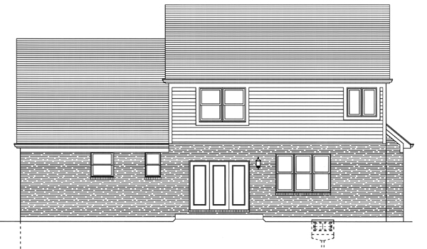 Southern House Plan 50102 Rear Elevation
