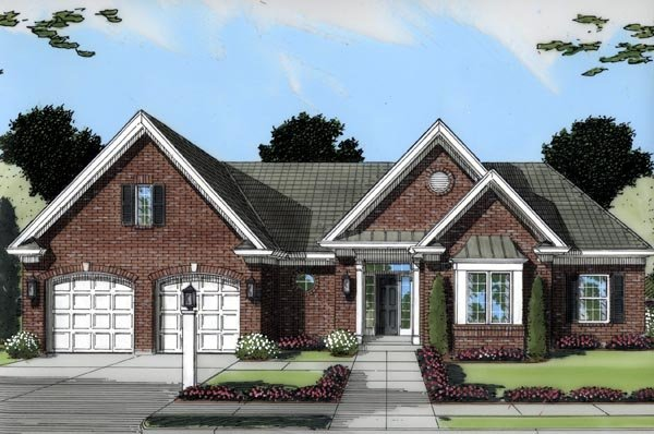 Ranch Southern House Plan 50103 Elevation