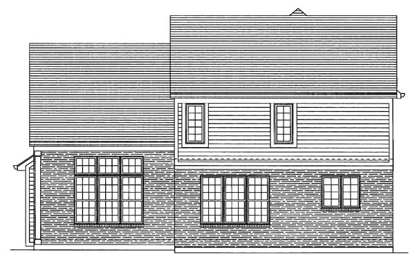 Traditional House Plan 50106 Rear Elevation