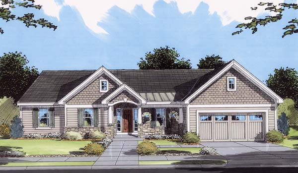 Craftsman Ranch House Plan 50107 Elevation