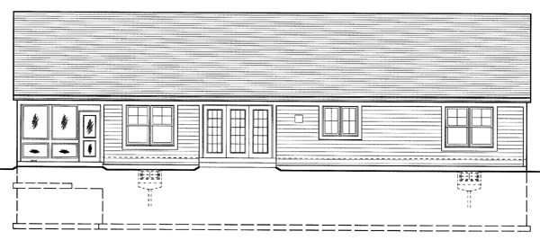 Craftsman Ranch House Plan 50107 Rear Elevation