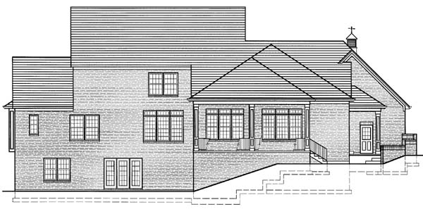 Traditional House Plan 50108 Rear Elevation