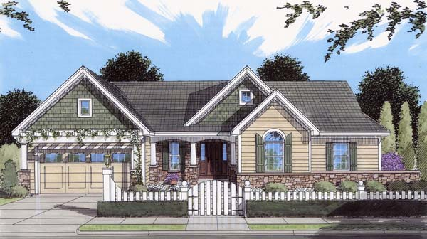 Craftsman House Plan 50111 Elevation
