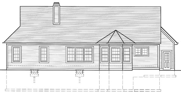 Craftsman House Plan 50111 Rear Elevation