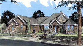 Ranch House Plan 50112 Elevation
