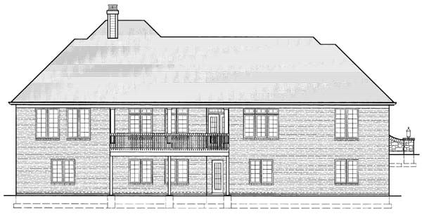 Ranch House Plan 50112 Rear Elevation