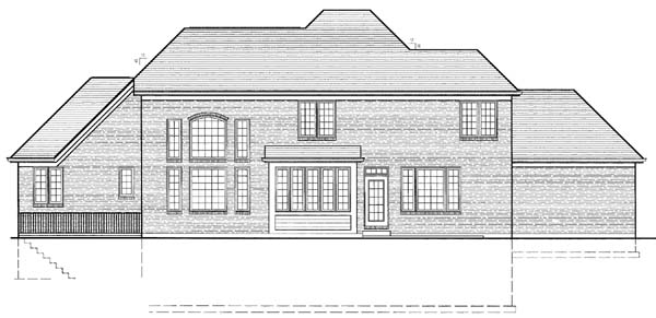 Traditional House Plan 50113 Rear Elevation