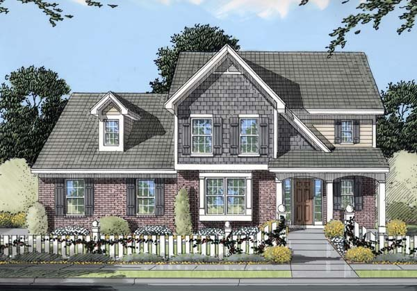 Southern Traditional House Plan 50114 Elevation