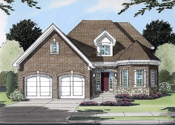 Narrow Lot Traditional Elevation of Plan 50115