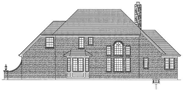 Traditional House Plan 50116 Rear Elevation