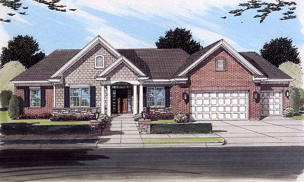 Ranch House Plan 50117 Elevation