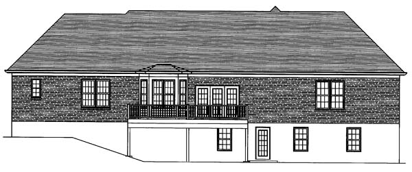 Ranch House Plan 50117 Rear Elevation