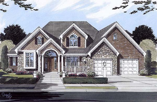 Traditional House Plan 50119 Elevation