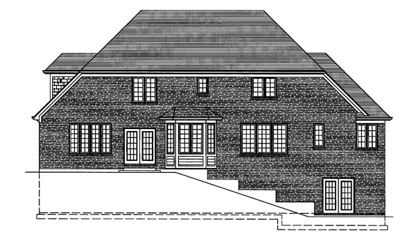 Traditional House Plan 50119 Rear Elevation