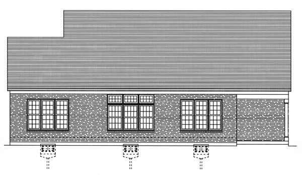 Southern House Plan 50121 Rear Elevation