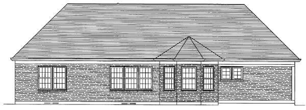 Ranch House Plan 50122 Rear Elevation