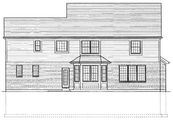 Traditional House Plan 50123 Rear Elevation
