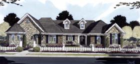 Ranch House Plan 50124 with 4 Beds, 5 Baths, 3 Car Garage Elevation