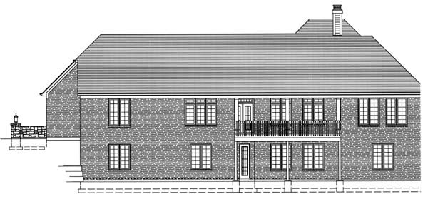 Ranch House Plan 50124 Rear Elevation