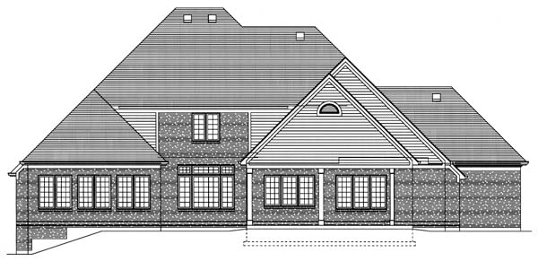 Traditional House Plan 50125 Rear Elevation