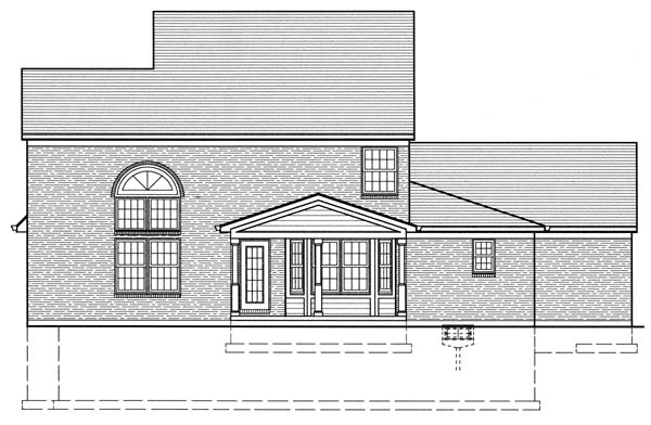 Traditional House Plan 50126 Rear Elevation