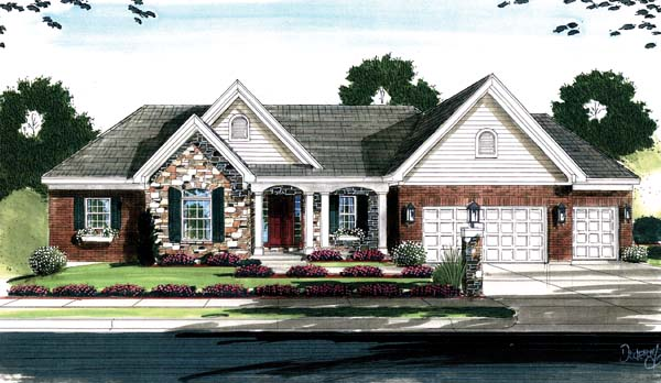 House Plan 50128 Elevation