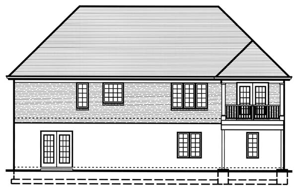 House Plan 50130 Rear Elevation