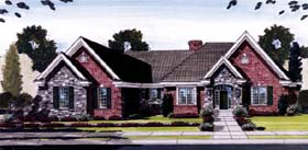 House Plan 50132 | Ranch Style Plan with 2957 Sq Ft, 3 Bedrooms, 3 Bathrooms, 2 Car Garage Elevation