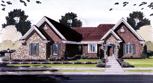 Ranch House Plan 50133 Elevation