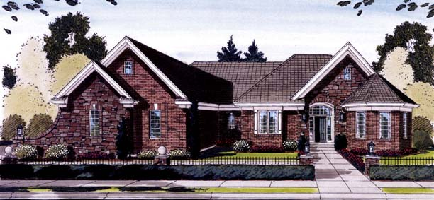 Ranch House Plan 50134 Elevation