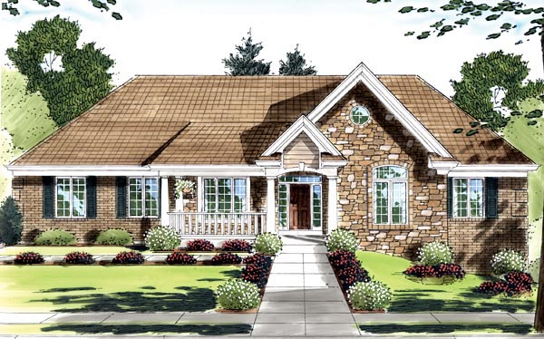 Country House Plan 50135 Elevation