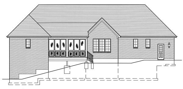 Country House Plan 50135 Rear Elevation
