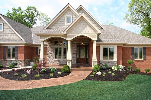 Craftsman House Plan 50138 with 4 Beds, 3 Baths, 3 Car Garage Picture 2