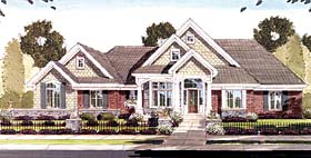 House Plan 50140 | Craftsman Style Plan with 2796 Sq Ft, 2 Bedrooms, 3 Bathrooms, 2 Car Garage Elevation