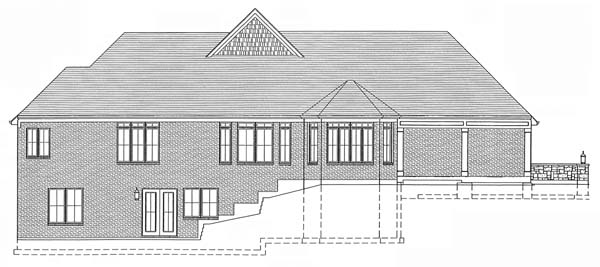 Craftsman House Plan 50140 Rear Elevation