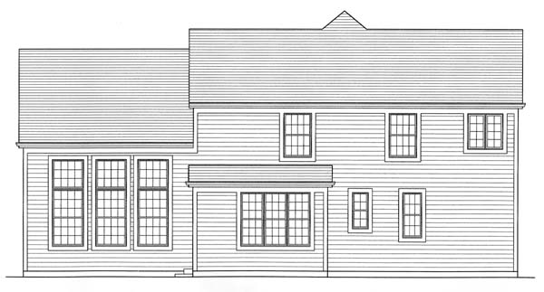 Traditional House Plan 50141 Rear Elevation