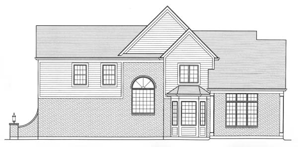House Plan 50143 Rear Elevation