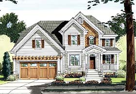Coastal Traditional House Plan 50145 Elevation
