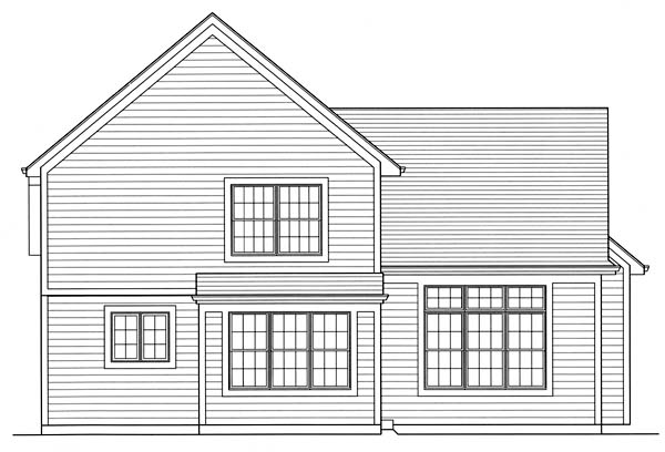 Traditional House Plan 50146 Rear Elevation