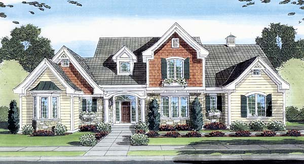 European House Plan 50149 Elevation