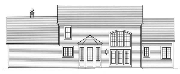 European House Plan 50149 Rear Elevation