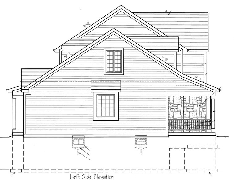 Craftsman House Plan 50150 with 4 Beds, 3 Baths, 2 Car Garage Picture 1