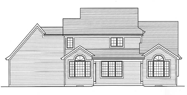 Craftsman House Plan 50150 Rear Elevation