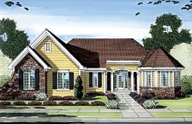 Craftsman Ranch House Plan 50153 Elevation
