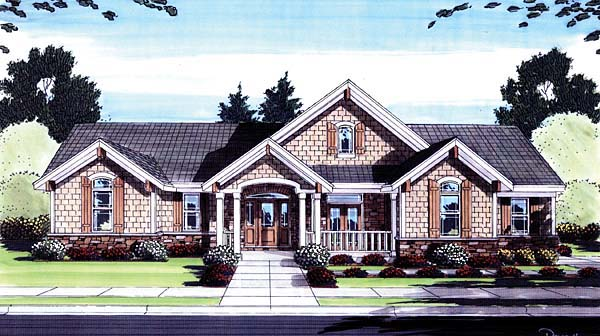 Craftsman House Plan 50160 Elevation
