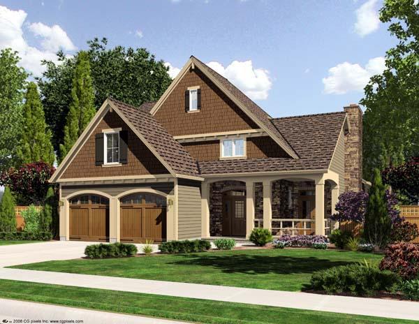 Craftsman House Plan 50164 Elevation