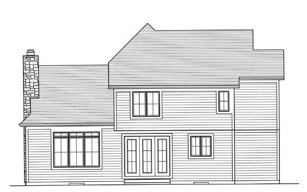 Craftsman House Plan 50164 Rear Elevation