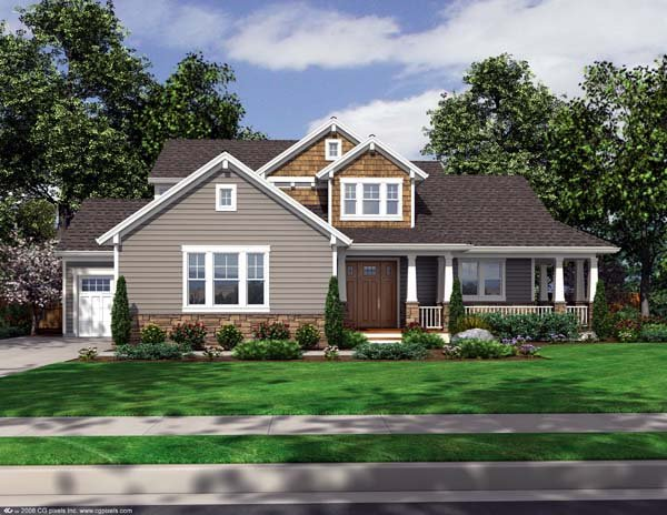 Craftsman House Plan 50165 Elevation