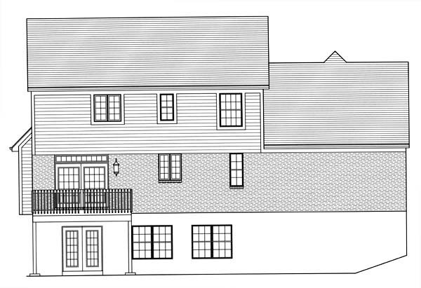 Traditional House Plan 50167 Rear Elevation