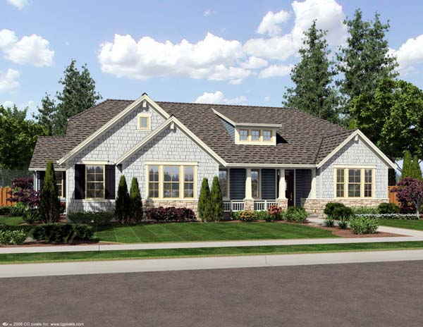 Craftsman Ranch Elevation of Plan 50171